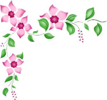 tube coin cadre fleur