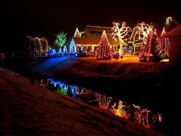 Maison illuminée Noël