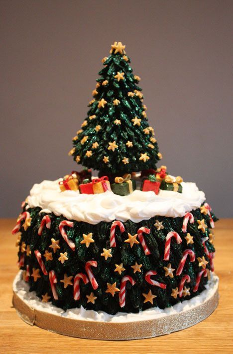 decoration gateau de noel