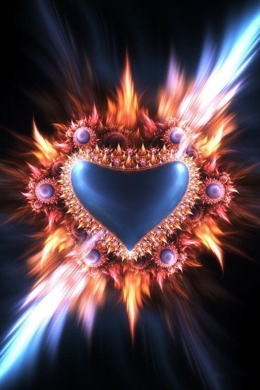 Fractal coeur de feu