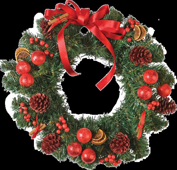 Tube couronne de Noël rouge