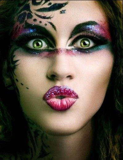 Maquillage sur visage - Maquillage deguisement visage ...