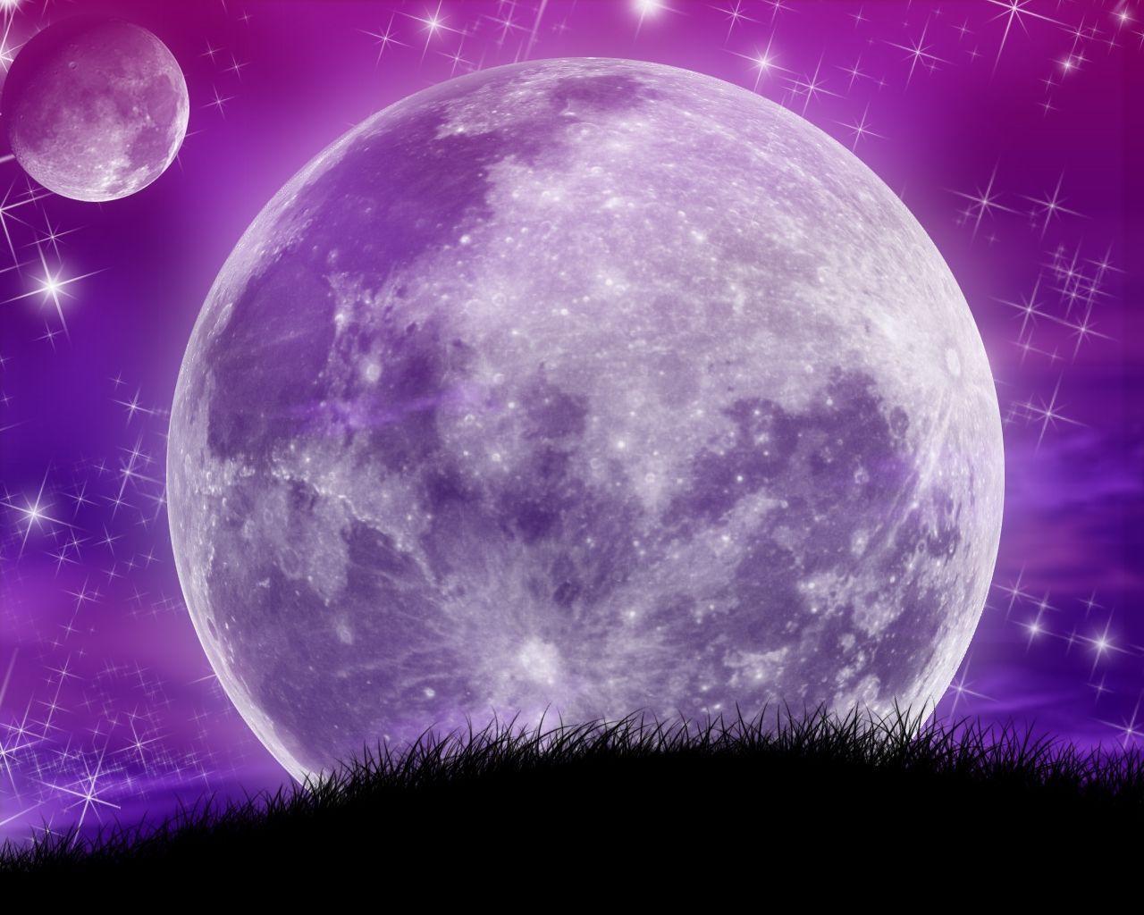 Paysage magique de planetes