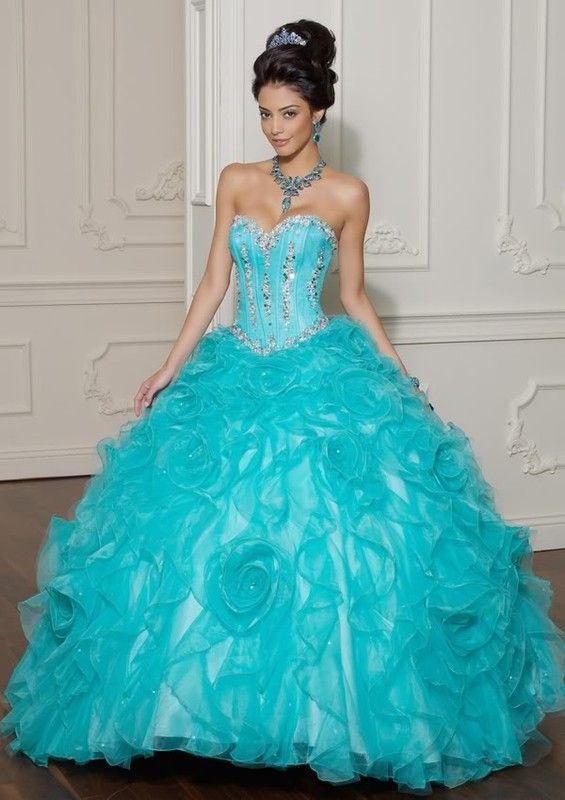 robe de mari e bleu turquoise