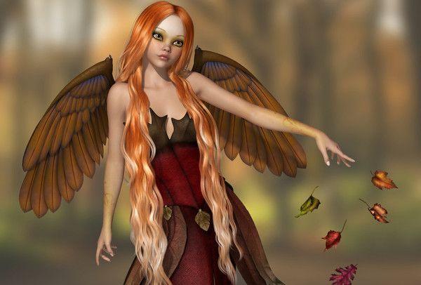 Ange de l'automne