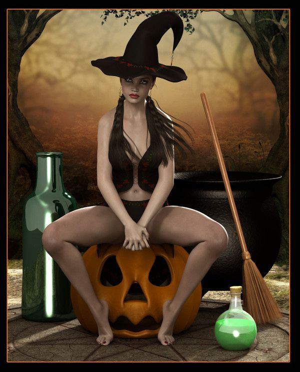 Sorcière sexy Halloween