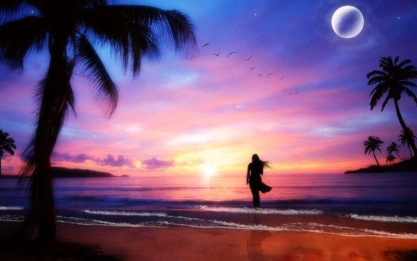 Coucher de soleil sous les tropiques