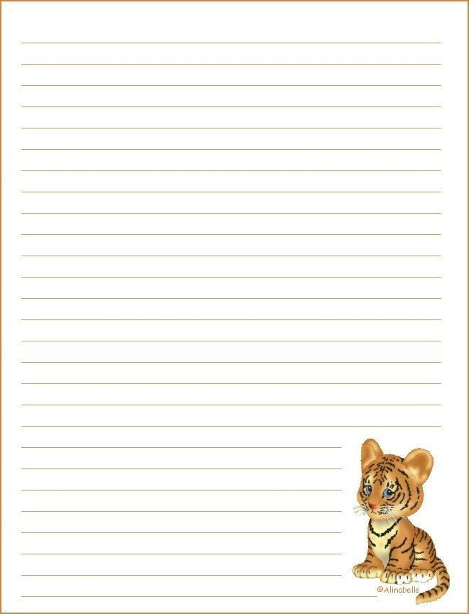 papier à lettre vierge avec ligne