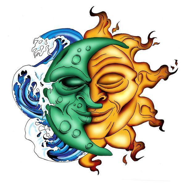 Dessin divers - Dessin de lune et soleil ...