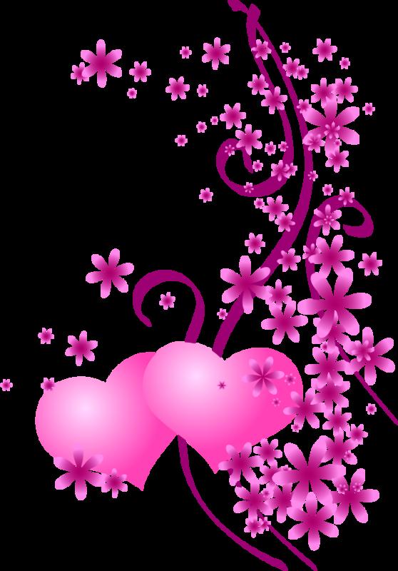 Tube coeur - Coeur avec des fleurs ...