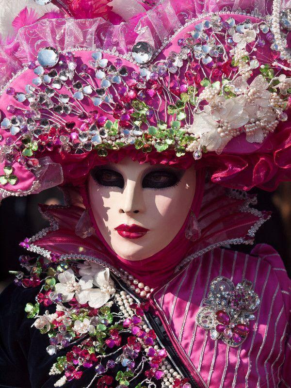 Masque carnaval de Venise rose