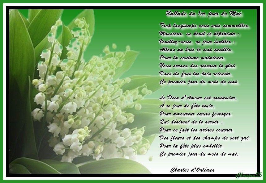 Po me du 1er mai - Poeme coccinelle porte bonheur ...