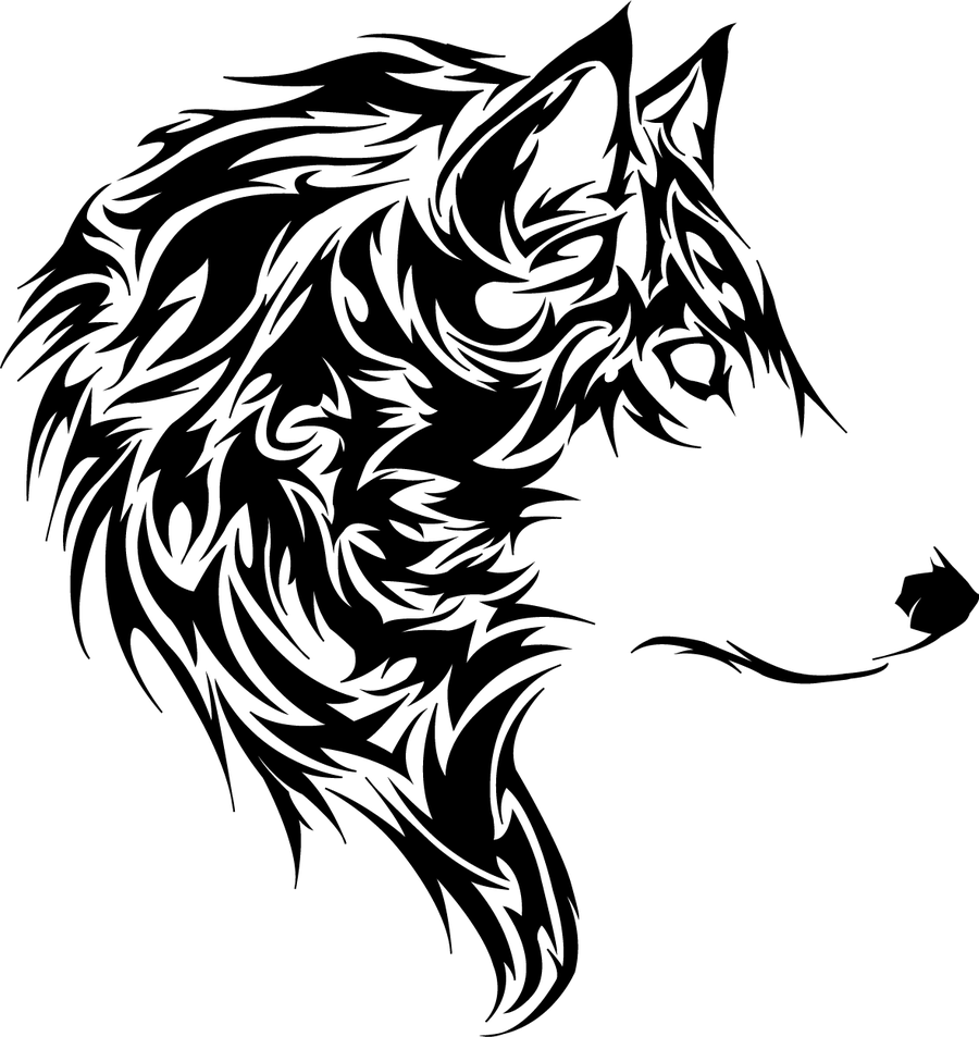 loup stickers tribal tribal loup Tete de
