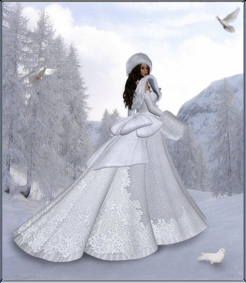 Hiver page 2 - Princesse des neiges ...