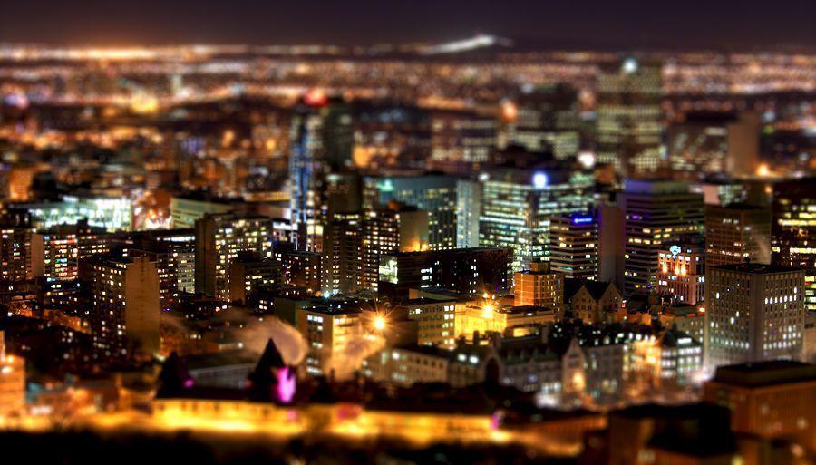 Paysage de ville de nuit for Paysage de ville