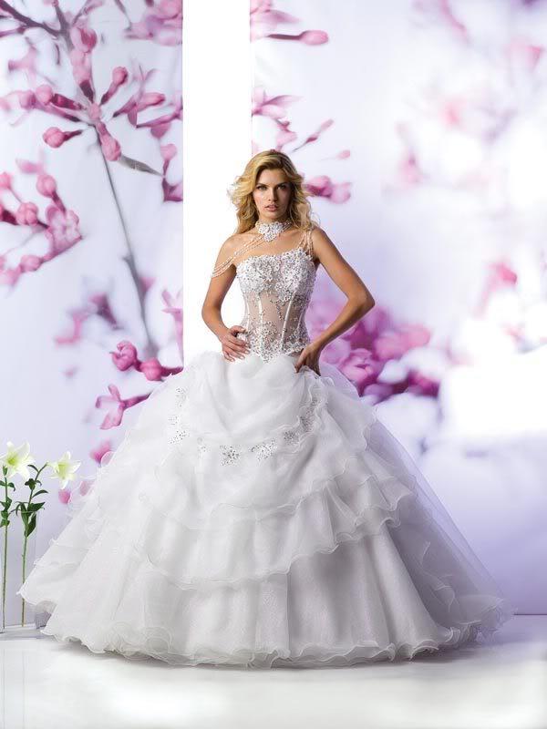 robe de mari e blanche bustier