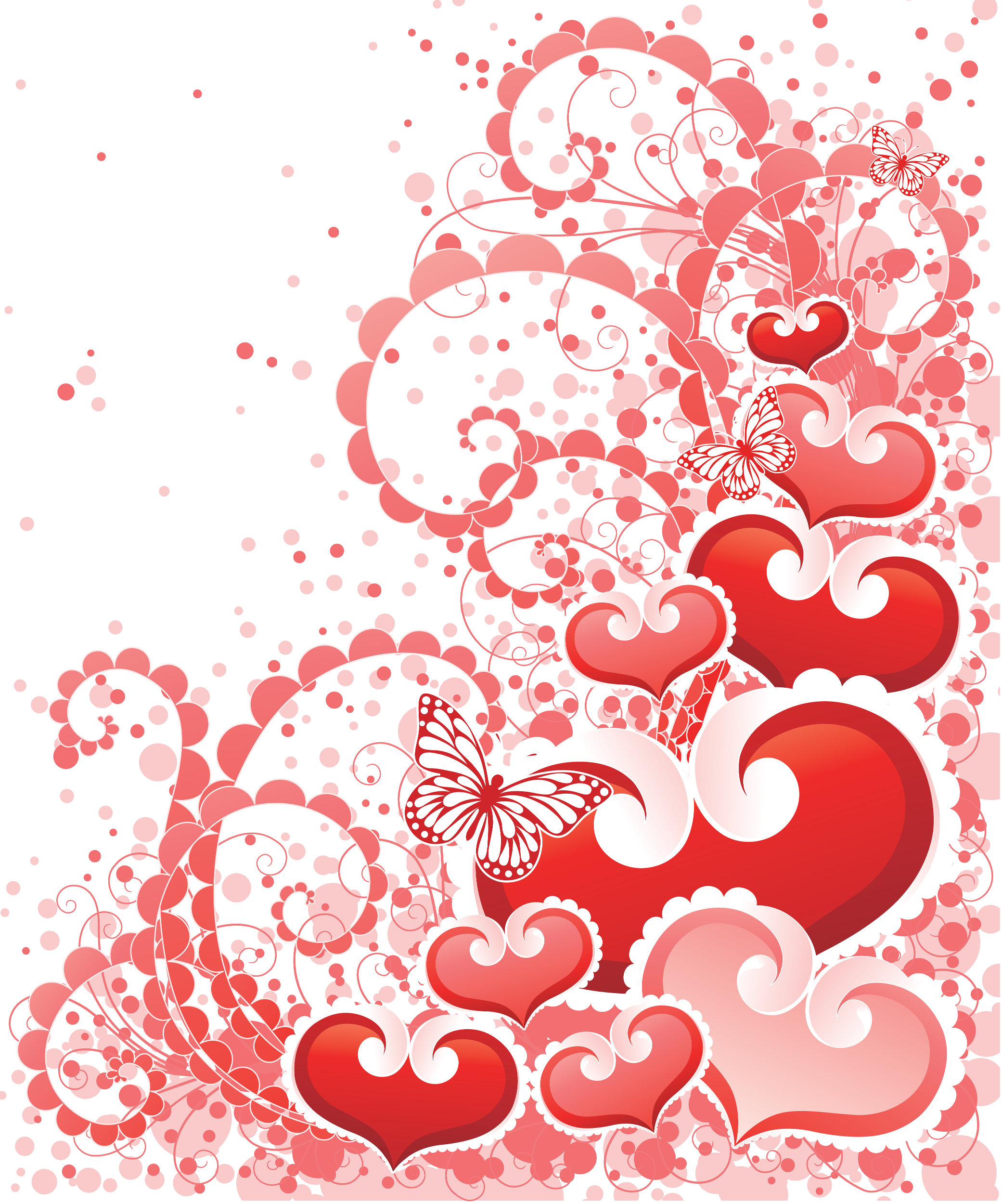 Tube de coeurs pour vos créations de la Saint Valentin ou d'amour