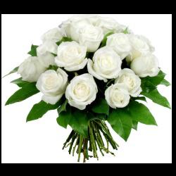 Tube bouquet de roses blanche