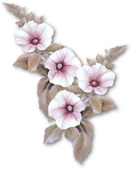 TUBE  fleurs rose